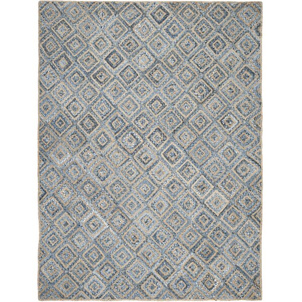 Gilchrist Traditional Hand-Woven Natural/Blue Area Rug by Beachcrest Home