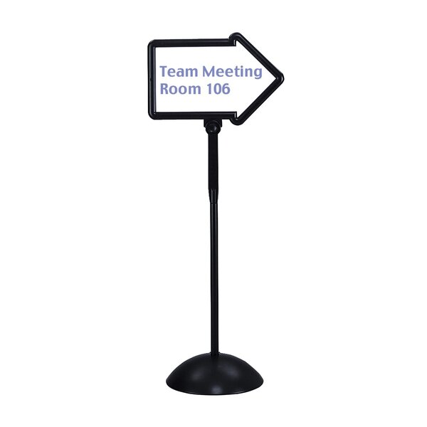 Dry Erase Magnetic Plastic Double-Sided Arrow Sign by Safco Products Company