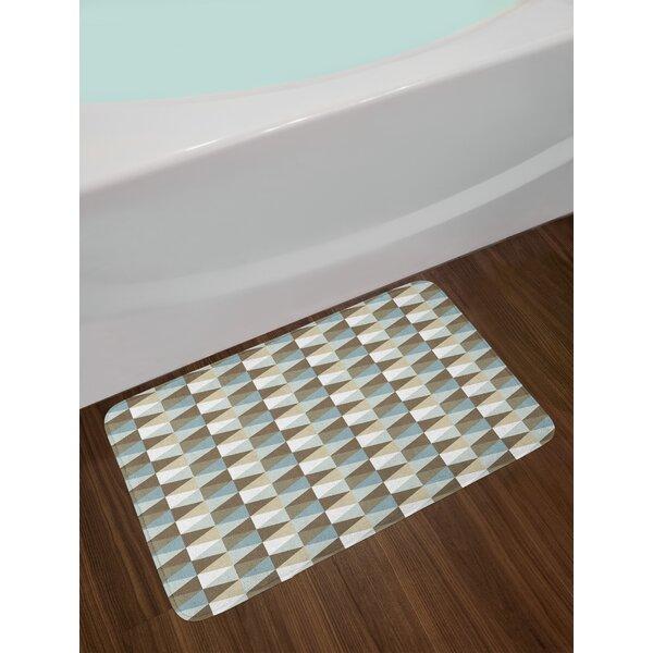 Abstract Triangles Geometric Bath Rug by East Urban Home