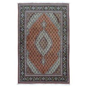 Estrella Mahi Tabriz Hand-Woven Wool Red Area Rug