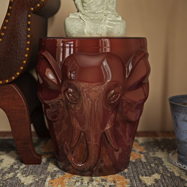 Pottorff Wild Elephant Garden Stool by World Menagerie