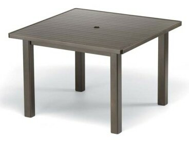 Aluminum Slat 42 Square Dining Table by Telescope Casual