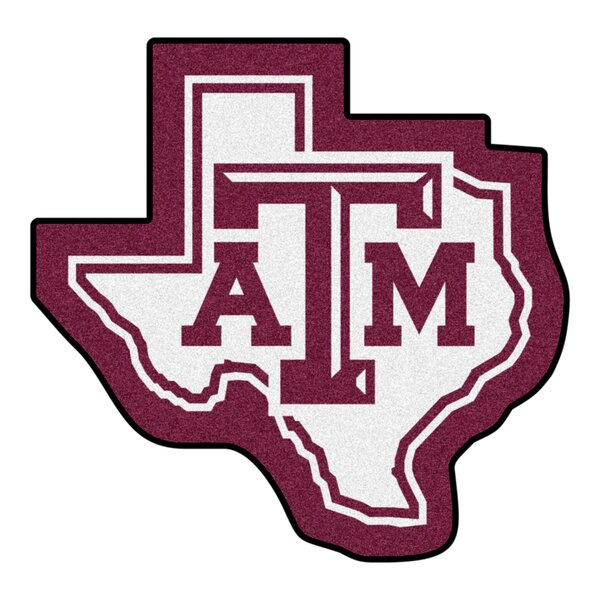 NCAA Texas A&M University Mascot 40 in. x 30 in. Non-Slip Indoor Only Mat