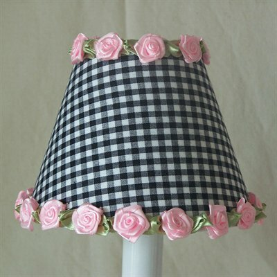Gardens of Gingham 5 Fabric Empire Candelabra Shade by Silly Bear Lighting