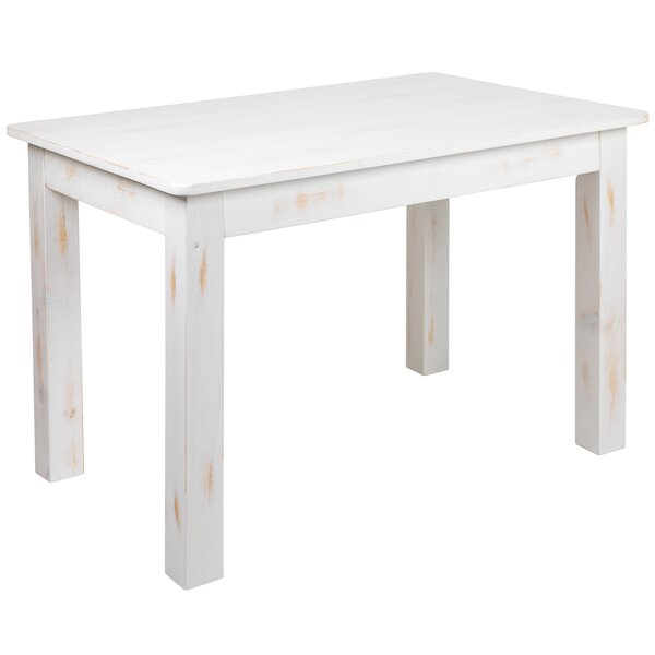 Febe Pine Solid Wood Dining Table by Gracie Oaks