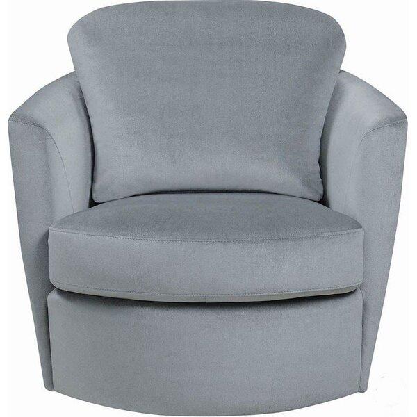 Vittorio Velvet Upholstered Round Swivel Barrel Chair By Brayden Studio