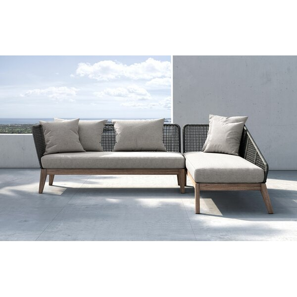 Tobiah Patio Sectional with Cushion by Rosecliff Heights Rosecliff Heights