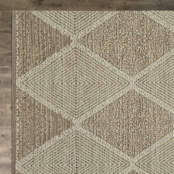 Jessup Hand-Woven Cotton Beige Area Rug by Birch Lane™
