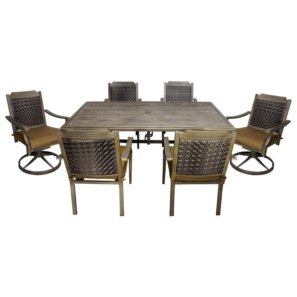 Darcey Dining Set with Cushions by Darby Home Co