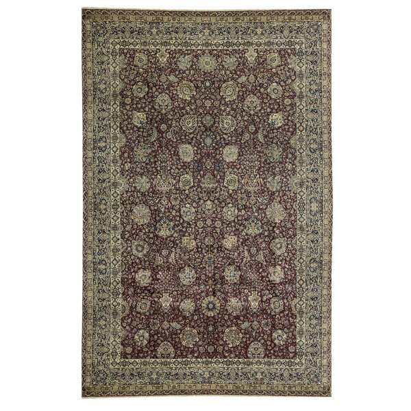 One-of-a-Kind Sona Hand-Knotted Red/Green 12' x 18'4 Wool Area Rug