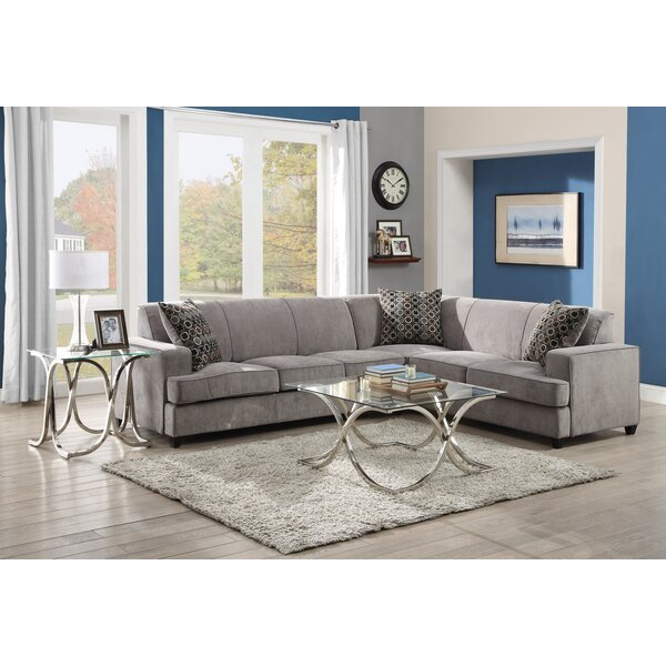 Darby Home Co Caswell Sleeper Sectional & Reviews