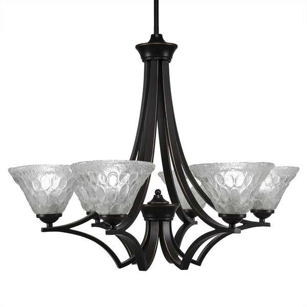 Couto 6-Light Shaded Chandelier Empire Chandelier By Red Barrel Studio