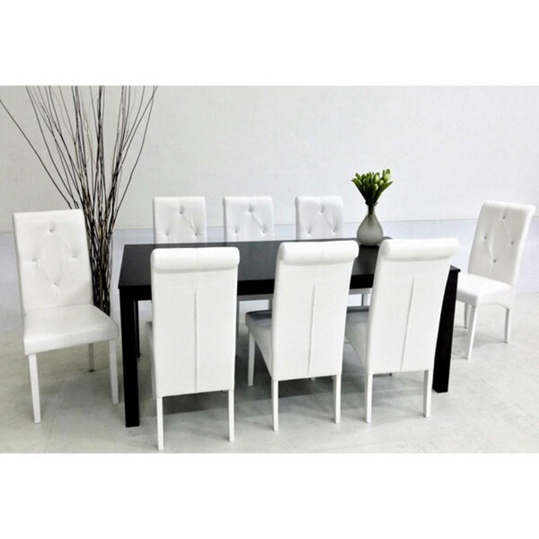 Dita 9 Piece Solid Wood Dining Set by Warehouse of Tiffany