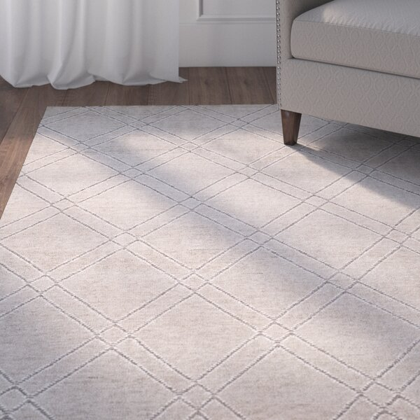 Bradenton Hand-Knotted Khaki/Gray Area Rug by Charlton Home