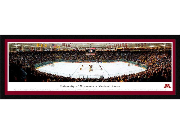 NCAA Minnesota, University of - Hockey by James Blakeway Framed Photographic Print by Blakeway Worldwide Panoramas, Inc