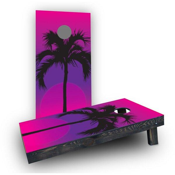 Palms at Night Cornhole Boards (Set of 2) by Custom Cornhole Boards