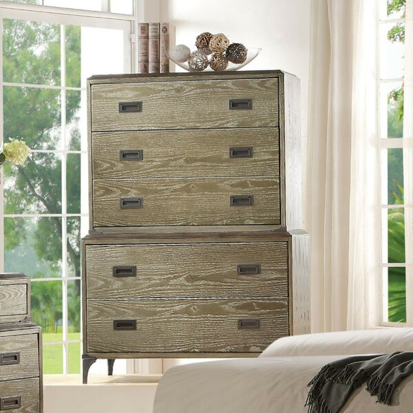 Appalachia Wood and Metal 5 Drawer Chest by Brayden Studio