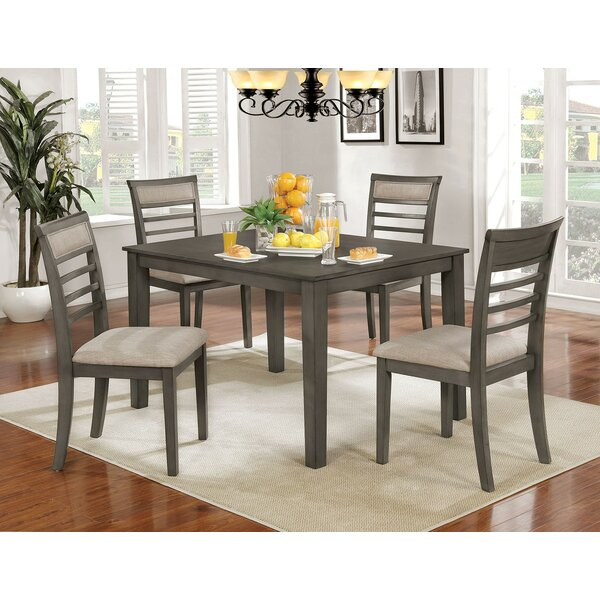 Opalstone 5 Piece Solid Wood Dining Set by Gracie Oaks