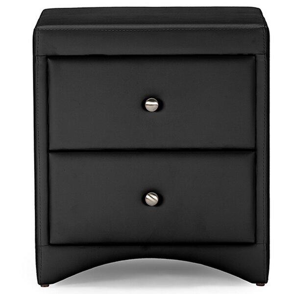 Ginder Upholstered 2 Drawer Nightstand by Orren Ellis Orren Ellis