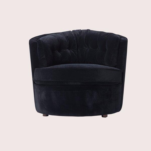 Pinheiro Velvet Barrel Chair By Mercer41