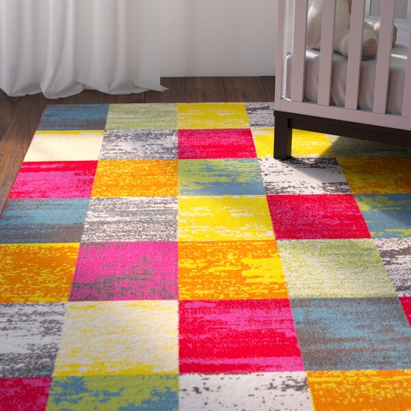 Eddie Red/Orange Area Rug by Viv + Rae