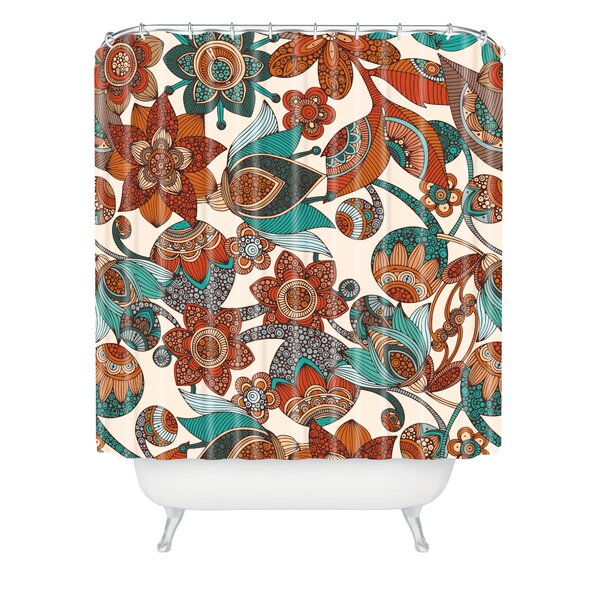 Valentina Ramos Lucy Flowers Shower Curtain by East Urban Home