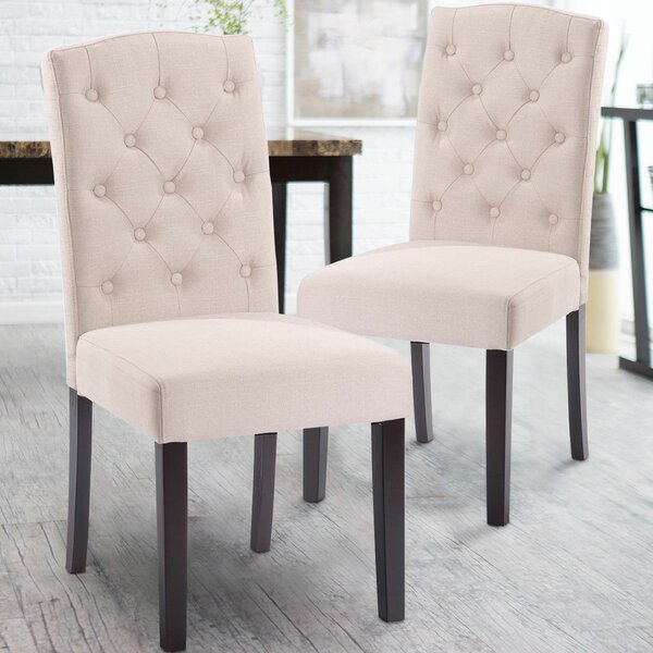 Plourde Upholstered Dining Chair (Set of 2) by Charlton Home Charlton Home