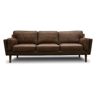 kaufman mid century modern leather sofa - Modern Leather Sofa