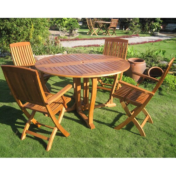 Sabbattus Marbella 5 Piece Dining Set by Breakwater Bay