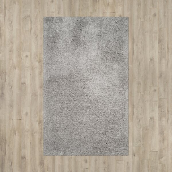 Page Silver Shag Area Rug by Wade Logan