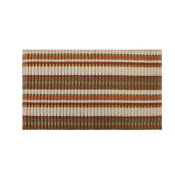 Willis Hand-Woven Silk Beige/Brown Area Rug by Charlton Home