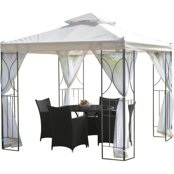 Polenza 8 Ft. W x 8 Ft. D Metal Patio Gazebo by SunTime Outdoor Living