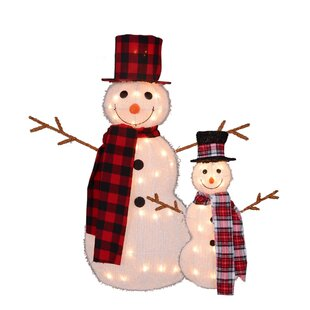 22 Lighted Snowman With Top Hat And Twig Arms Outdoor Christmas Yard Art Decoration Display