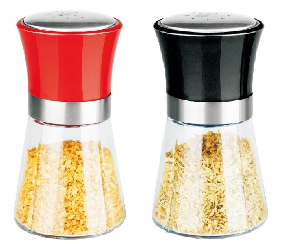 Home Basics Stainless Steel Twist Caps 6 Oz Oversized Salt Pepper