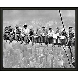 New York Lunch Atop a Skyscraper by Charles C. Ebbets Framed Photographic Print by Buy Art For Less