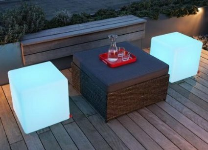 Barbee Outdoor LED Light Accent Stool by Latitude Run