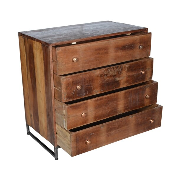 Milledgeville 4 Drawer Bachelors Chest by Millwood Pines