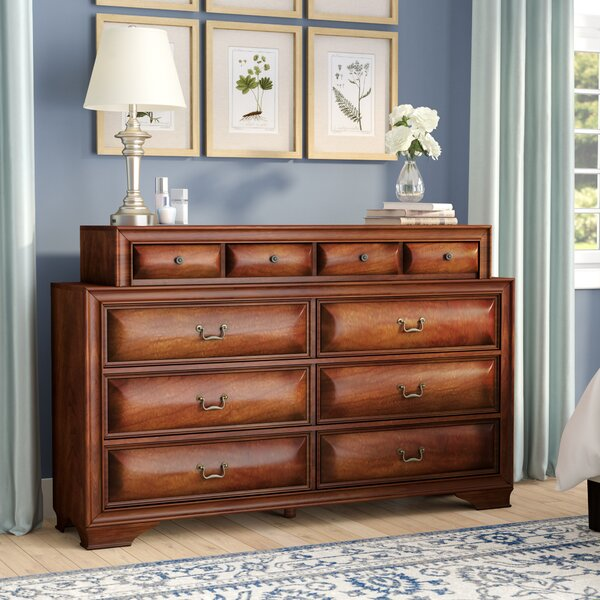 Edwardsville 10 Drawer Double Dresser with Mirror by Darby Home Co