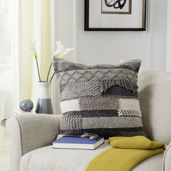 Bansom Wool Throw Pillow by Foundry Select