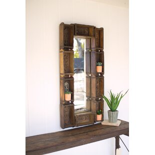 17 Stories Repurposed Rectangle Brick Mold Accent Mirror