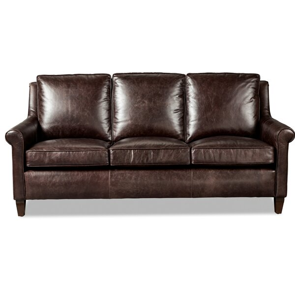 Cute Style Simcoe Leather Sofa by Westland and Birch by Westland and Birch