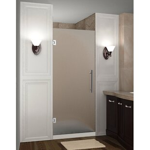 Read Reviews Cascadia 34 x 72 Hinged Completely Frameless Single Panel Shower Door By Aston