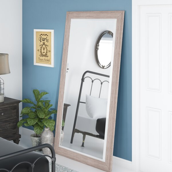 White Wash Leaner Full Length Mirror by August Grove