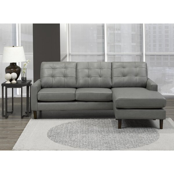 Velda Right Hand Facing Leather Sectional By Brayden Studio