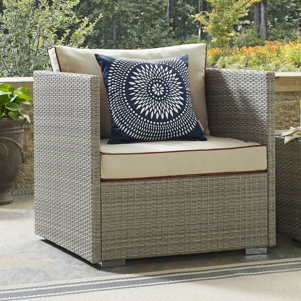 Heinrich Patio Chair with Cushions by Highland Dunes