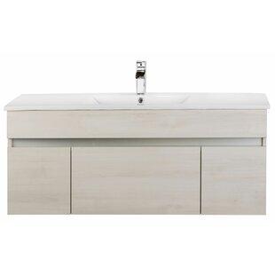 "Ivory Floating 48"" Single Bathroom Vanity"