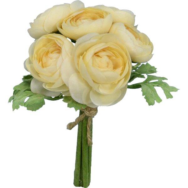 Faux Cream Ranunculus Bouquet Floral Arrangement by Fantastic Craft