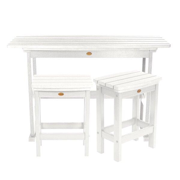 Amelia Balcony 3 Piece Pub Table Set by Three Posts