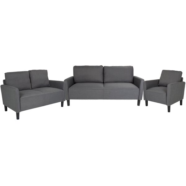 Ashbaugh Upholstered 3 Piece Living Room Set by Ebern Designs