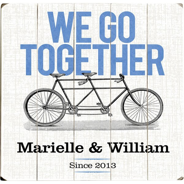 Personalized We Go Together Graphic Art Print Multi-Piece Image on Wood by Artehouse LLC
